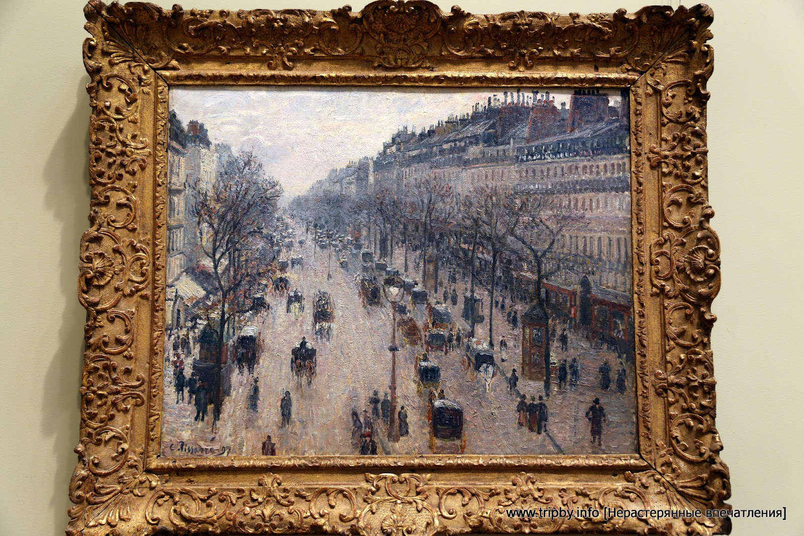 The Boulevard Montmartre on a Winter Morning Camille Pissarro