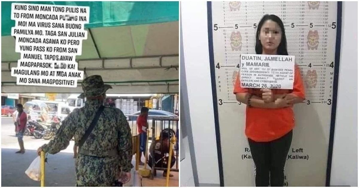 Woman arrested for assaulting policeman at checkpoint, wishing COVID on his family