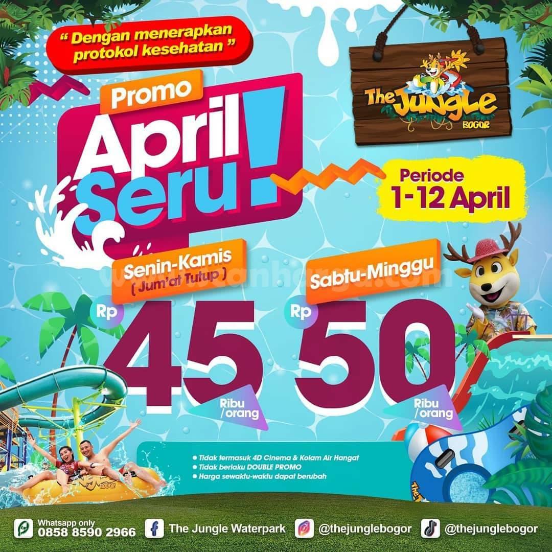 Promo THE JUNGLE APRIL SERU – TIKET MASUK mulai Rp 45.000 orang
