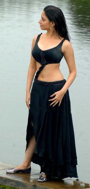 Tamanna Bhatia Stunning Pics In Black Dress Navel Queens