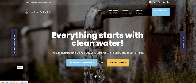 Nonprofit Fundraising & Charity WordPress Themes With Donation System    Only Cause