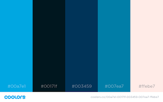 blue color palettes