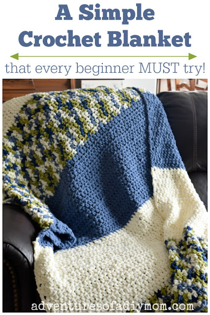 A simple crochet blanket that every beginner MUST try! Get the pattern for this easy blanket now!