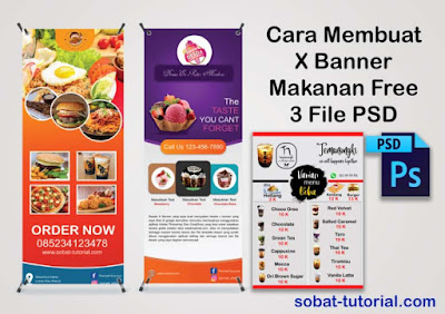 Desain  X Banner Makanan Format PSD