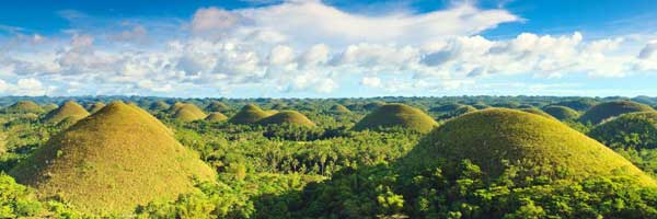 Most popular Tourist sites 7 wonders of the world Chocolate hills Carmen Bohol Philippines 2018