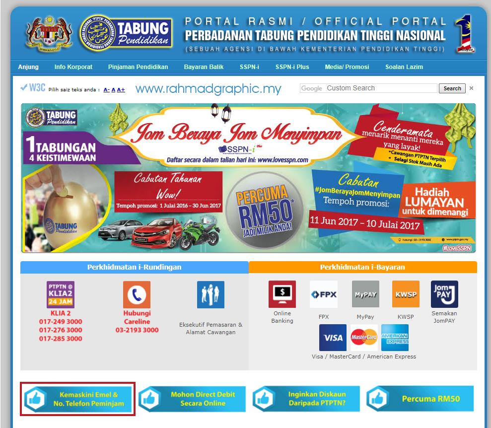 laman rasmi PTPTN
