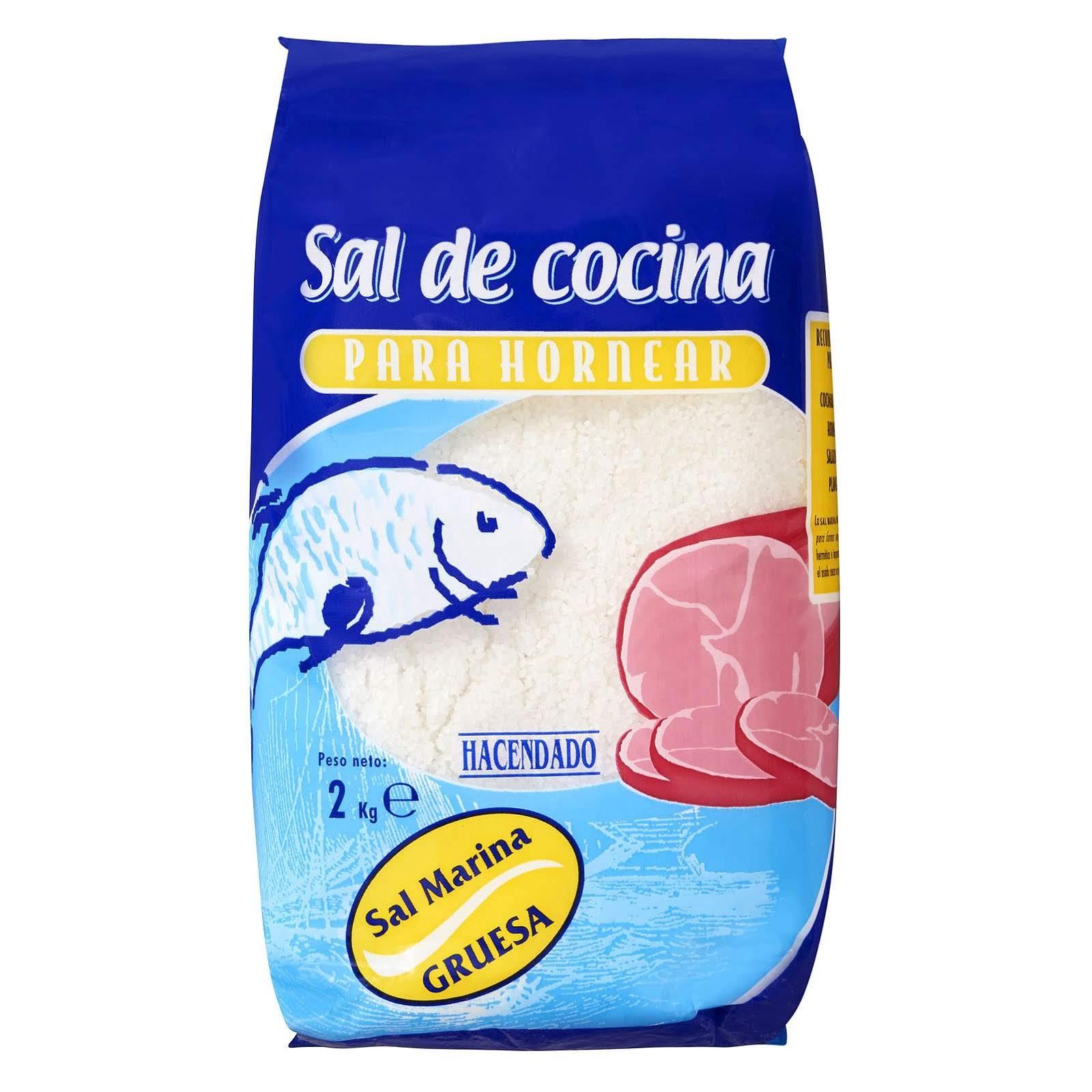 Sal gruesa para hornear Hacendado