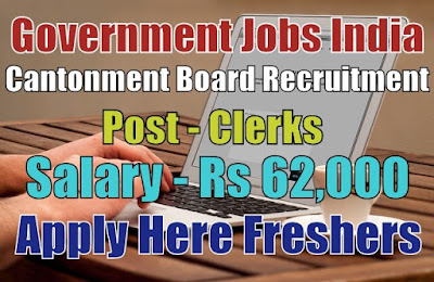 Cantonment Board Recruitment 2019
