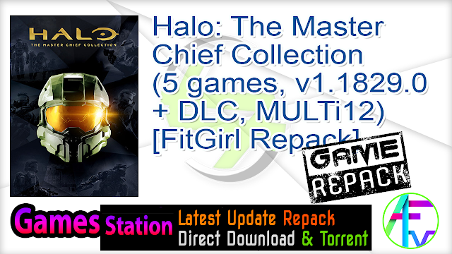 Halo The Master Chief Collection (5 games, v1.1829.0.0 + DLC, MULTi12) [FitGirl Repack, Selective Download – from 4.5 GB]
