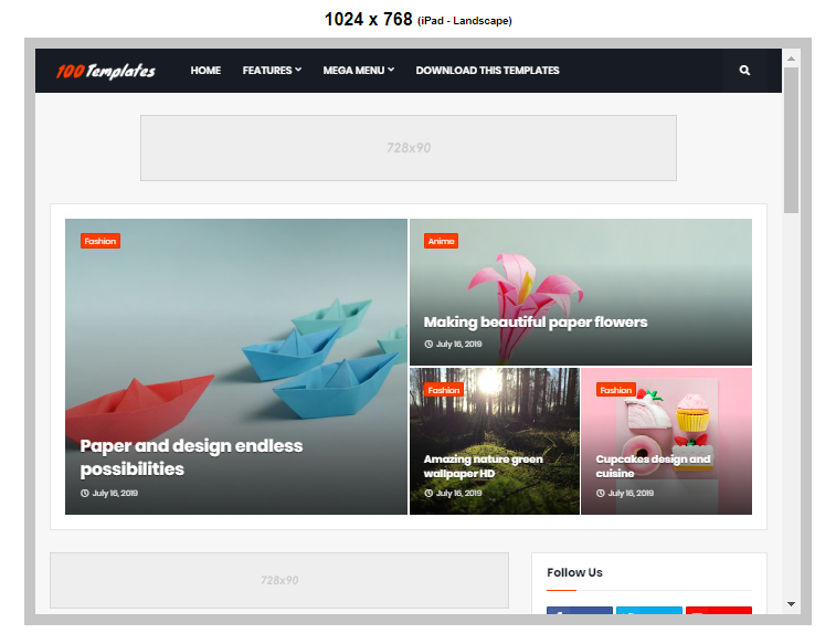 Magify Blogger Template Free Download
