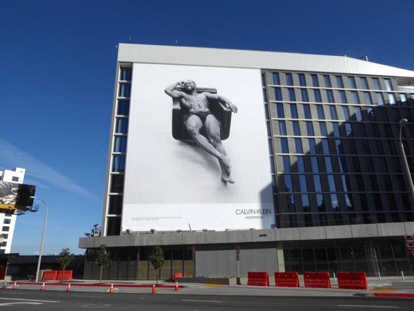 Giant Calvin Klein Underwear Trevante Rhodes billboard