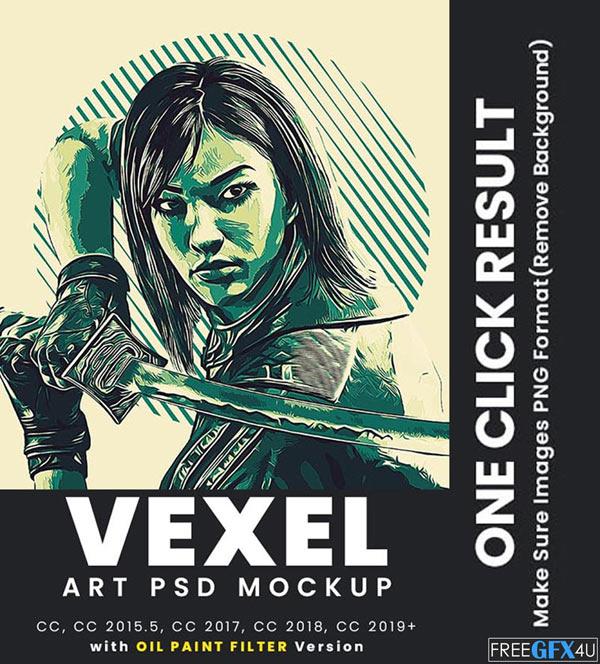 VEXEL Art Effect PSD Mockup