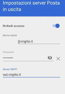 Virgilio Gmail in uscita
