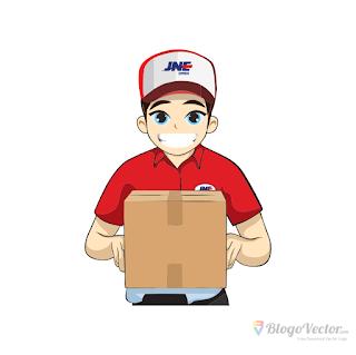 Maskot JNE Logo vector (.cdr)