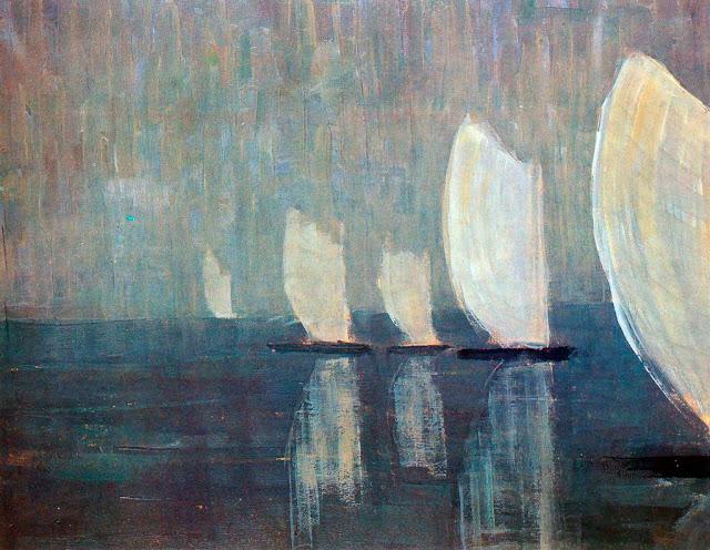 Чюрлёнис Микалоюс Константинас - Яхты (Корабли). 1906
