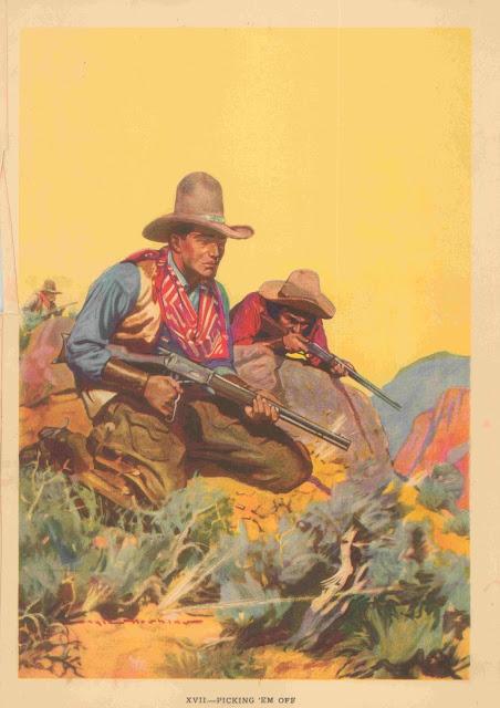 Gayle Hoskins - A Cowboy's Day #17 Picking 'em off