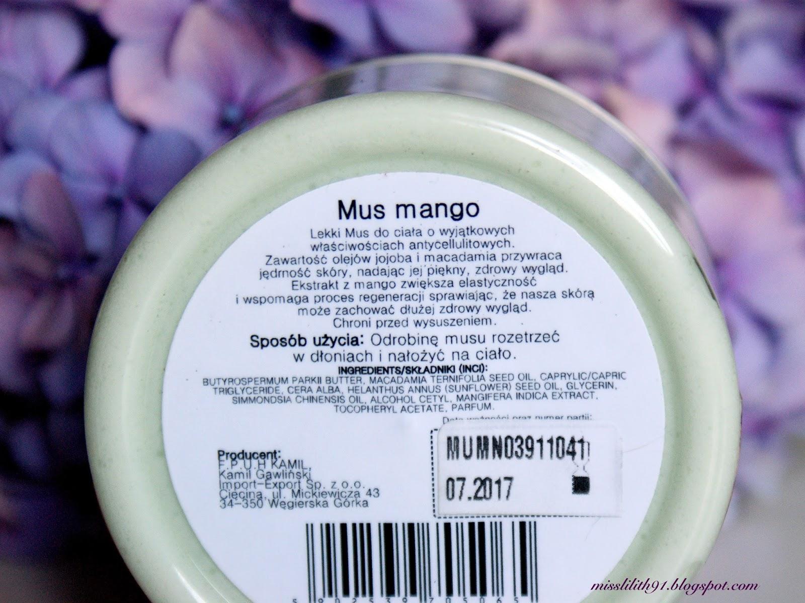 Bioamare, wyszczuplający mus do ciała Mango