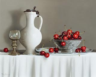 belleza-de-bodegones-con-ceramicas-y-frutas-frescas pinturas-cuadros-frutas-frescas