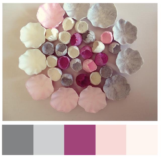 matrimonio  2018 con i fiori di carta: grigio, rosa e prugna di Alessandra Fabre Repetto Roma