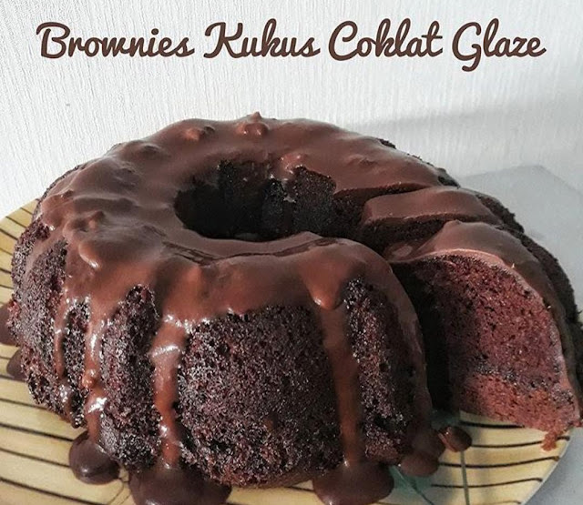 Brownies Kukus Toping Coklat Glaze