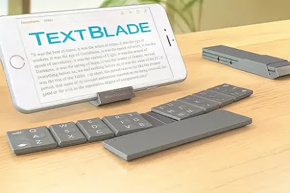 TextBlade papan ketik bluetooth paling portable buat gagdet genggam