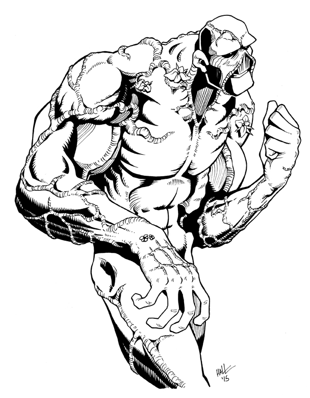 swamp monster coloring pages | C Michael Hall's Online Portfolio: Comics, Cartoons ...