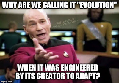 Once again, inspiration from science fiction. A Star Trek TNG episode provided some illustration for engineered adaptability, but the characters erroneously called it evolution.
