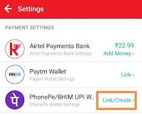 link phonepe to my airtel app