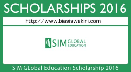 SIM Global Education Diploma Scholarship 2016