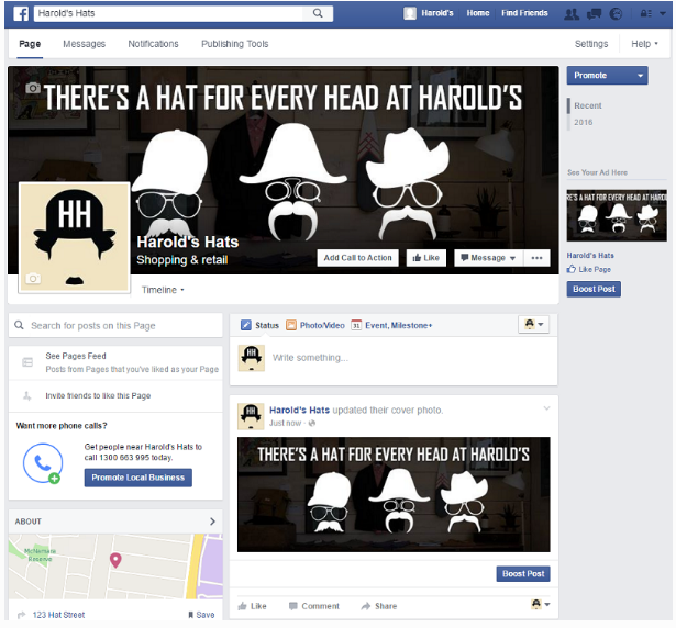 how to create facebook for business purposes