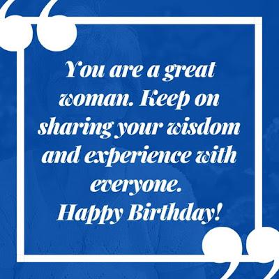 old lady birthday wish