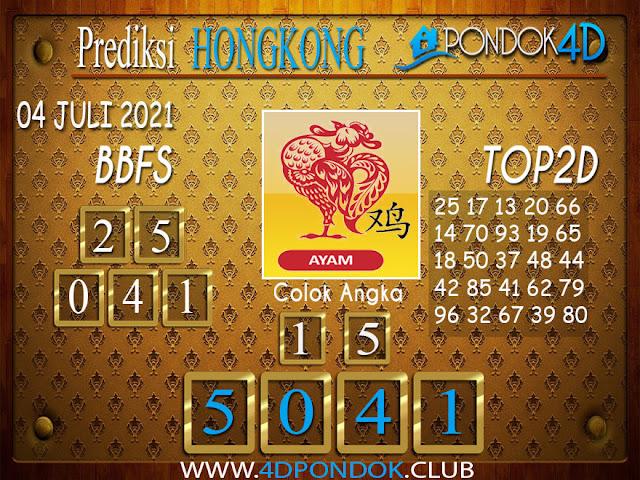 Prediksi Togel HONGKONG PONDOK4D 04 JULI 2021