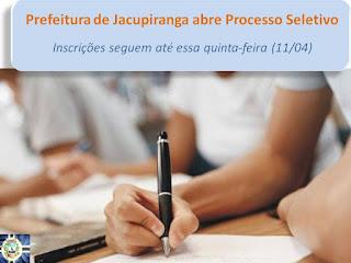 Prefeitura de Jacupiranga abre processo seletivo e as inscrições são gratuitas