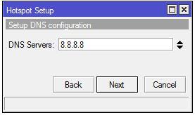Menentukan DNS Server Mikrotik
