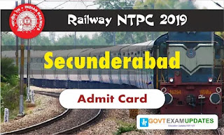 RRB NTPC Secunderabad Admit Card 2019