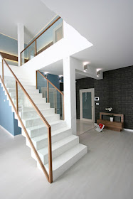 Interior Decoratinons 1 Trends Of Bannister Concepts And Supplies   Modern Glass Stair Railing   Dark Wood   Banister   Wall Mounted   Cost   Basement