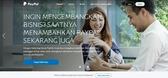 Mendaftar akun PayPal