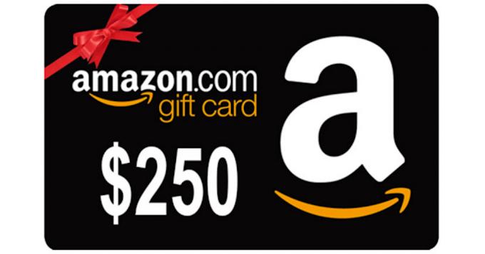 Sorteio de um Gift Card da amazon de $250