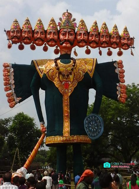 kharagur ravan, kharagpur festival, kharagpur durga puja,
