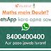 Maths solution on Whatsapp व्हाट्सएप पर मैथ्स के हल पाए