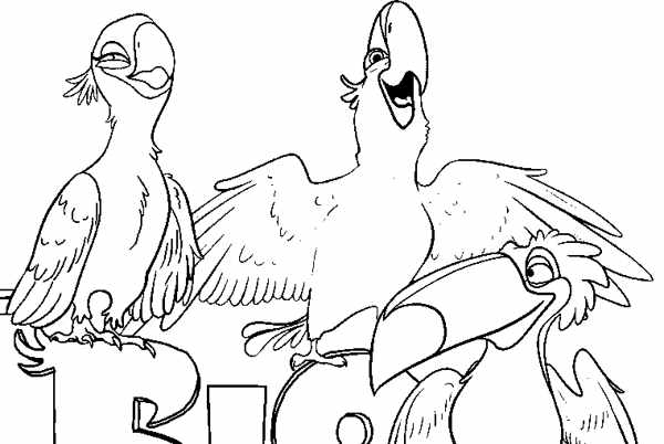 free rio the movie coloring pages | Juli 2012