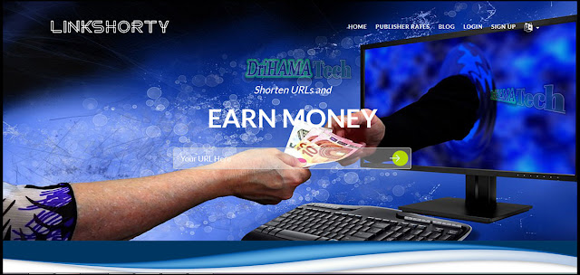 شرح موقع لنكشورتي  linkshorty  لختصار الروابط