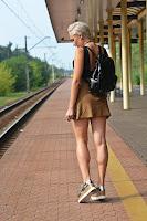 Czarny lakierowany plecak