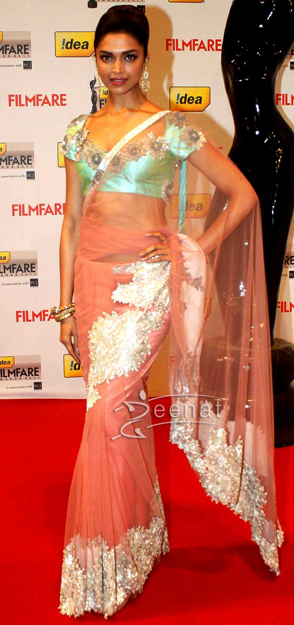 Bollywood World Deepika Padukone In Saree-5278