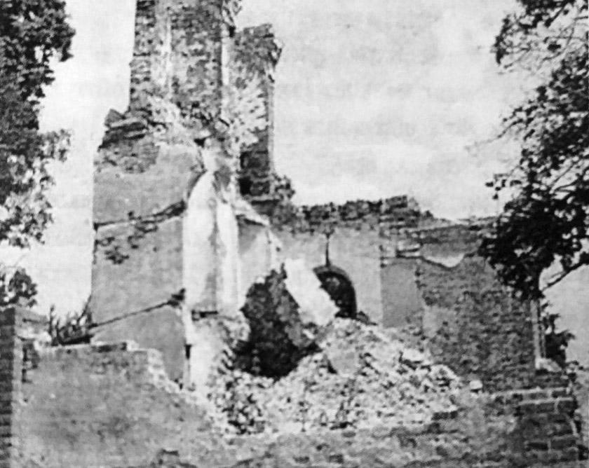 Руїни старої церкви в Пискоровичах