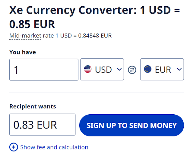 xe currency convert travel