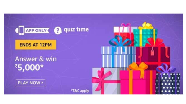 Amazon Quiz Answers Today 30 January win - ₹5000 Pay Balance