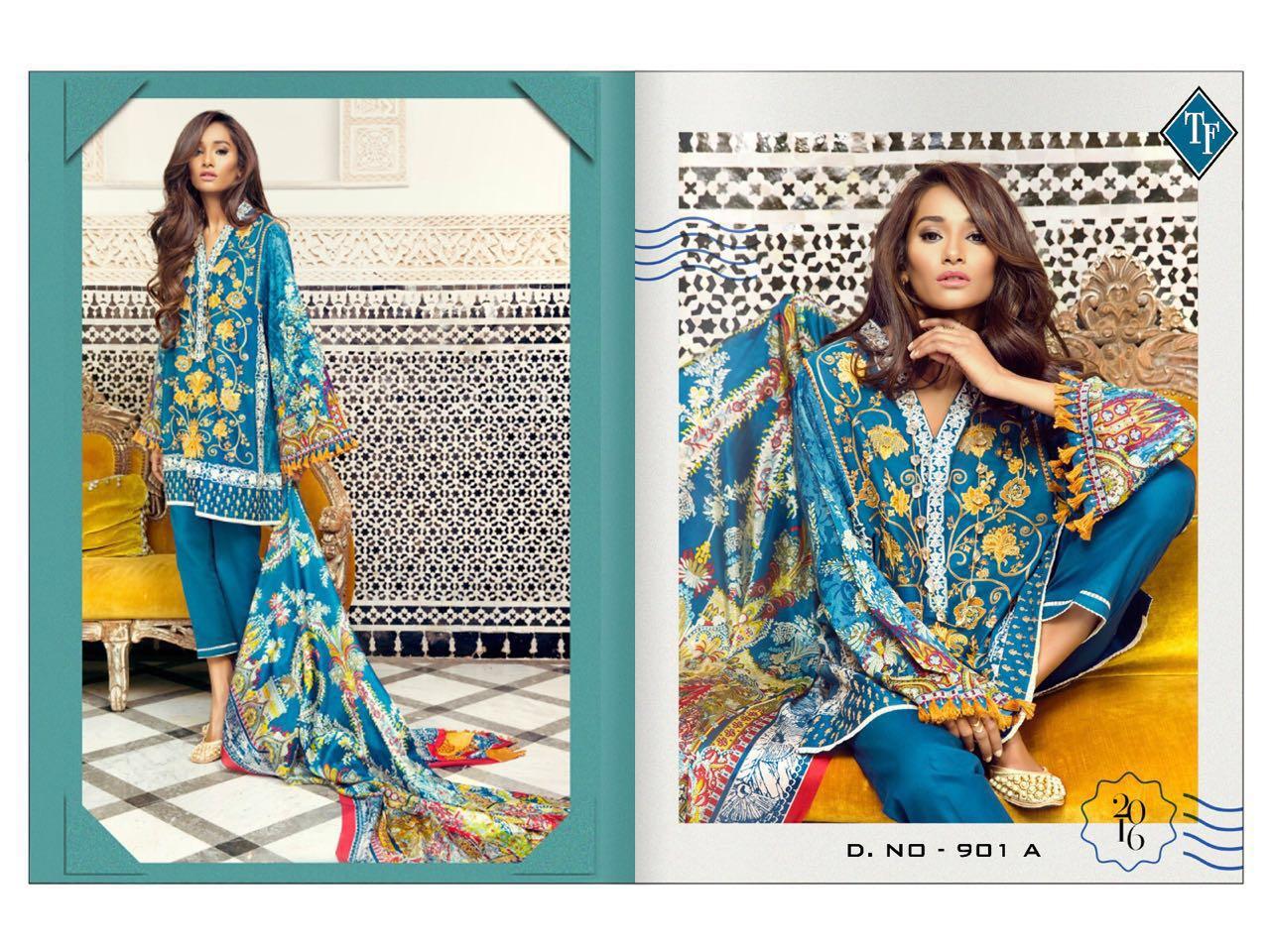 S-Elan – New Stylish Glace Satin Printed Salwar Kameez