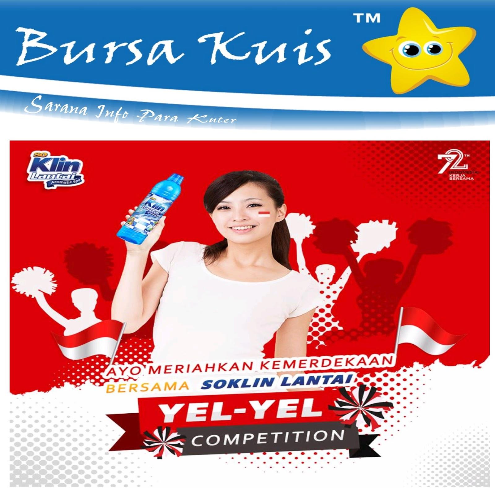 Kompetisi Kuis Yel So Klin Lantai Berhadiah Voucher Belanja Indomart Indomaret