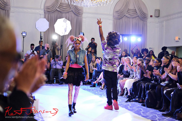 And that's all, take a bow - King Imprint & Kandi Reign Dance It Up LIVE at NYFW - Photographed by Kent Johnson for Street Fashion Sydney.